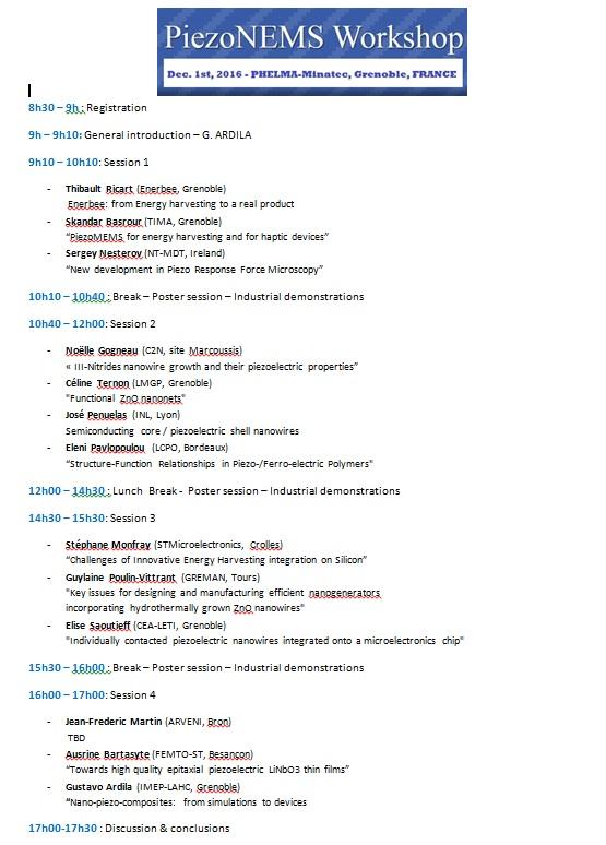 Program & Poster list